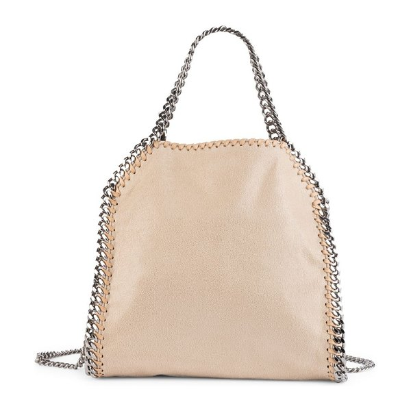Stella McCartney mini falabella shaggy deer tote in cream