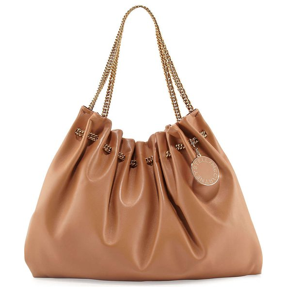 Stella McCartney Noma soft hobo bag in nude