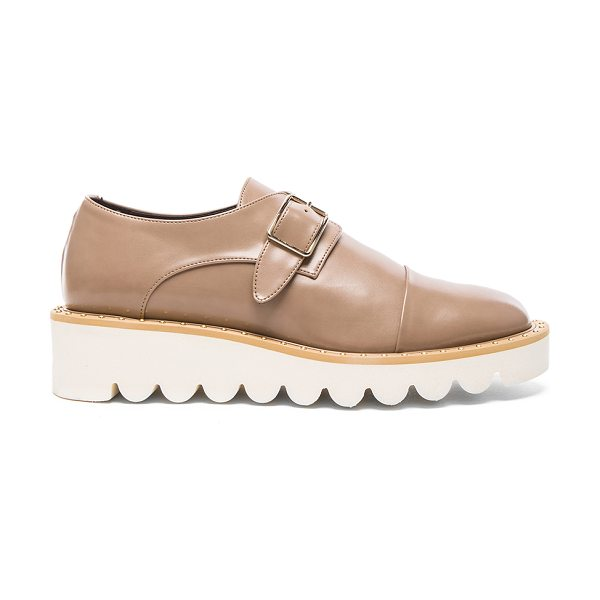 Stella McCartney Odette Faux Leather Monk Straps in neutrals - Faux leather upper with bio-degradable sole.  Made in...