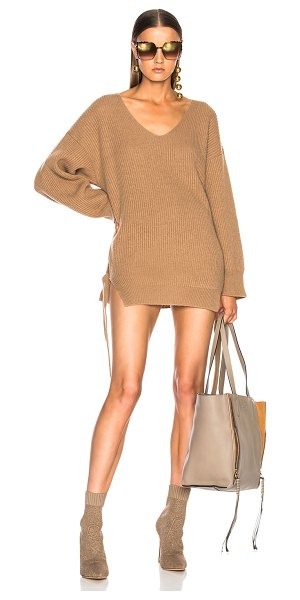STELLA MCCARTNEY Oversized V Neck Sweater in havana - 95% cashmere 5% wool. Made in Romania. Dry clean only....