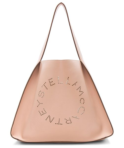 "STELLA MCCARTNEY Perforated Logo Tote - ""Eco alter nappa with faux suede lining.  Made in Italy...."