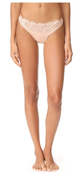 Stella McCartney rachel shopping bikini briefs in peony - These Stella McCartney briefs are crafted with an eyelet...