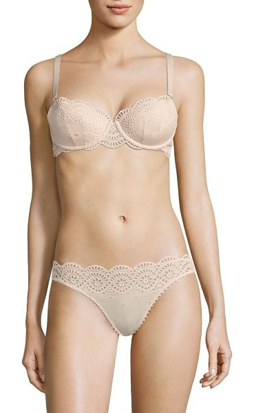 Stella McCartney rachel shopping contour bra in peony - Stretchy floral lace contour bra framed in delicate...