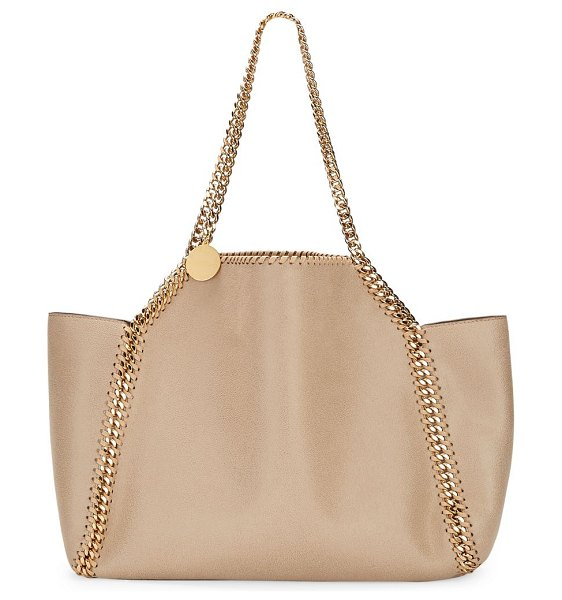 Stella McCartney falabella shaggy deer reversible tote in clotted cream