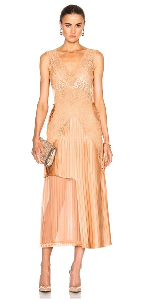 Stella McCartney Sable Satin Dress in pink - Self: 58% viscose 42% acetate - Contrast Fabric: 100%...