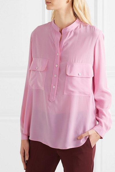 Stella McCartney silk crepe de chine blouse in pink