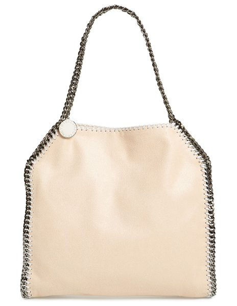 Stella McCartney 'small falabella in powder/ silver - Gunmetal chains trace the clean lines of a chic tote...