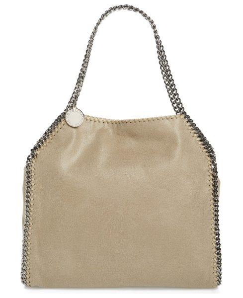 Stella McCartney 'small falabella in stone - Gunmetal chains trace the clean lines of a chic tote...