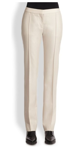 Stella McCartney Straight-leg wool trousers in beige - A precisely tailored straight-leg silhouette, cut from...