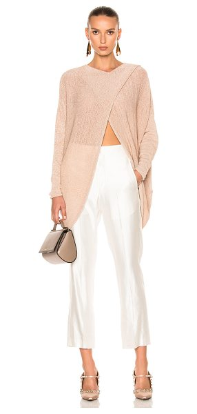 Stella McCartney Textured Tape Sweater in neutrals,pink