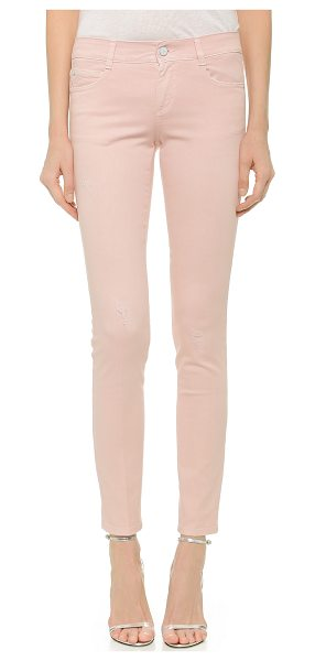 Stella McCartney The skinny long jeans in pale pink - Gently frayed spots and petite, shredded holes lend a...