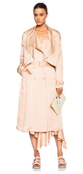 Stella McCartney Trench coat in pink,neutrals - 100% silk.  Made in Hungary.  Button front closures. ...