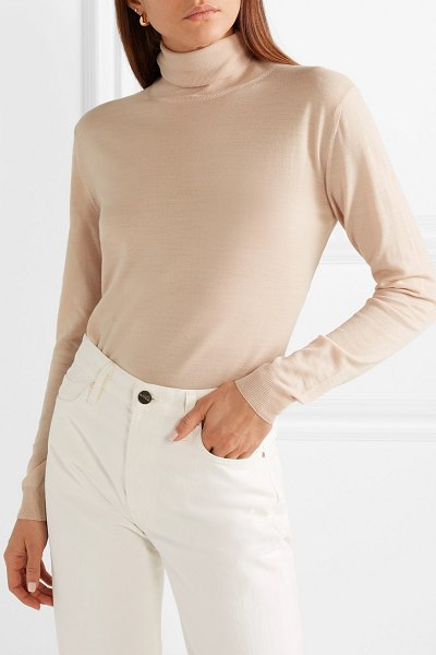 Stella McCartney wool turtleneck sweater in blush