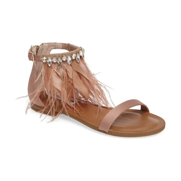 ca216a3c894f Steve Madden Adore Embellished Feather Sandal