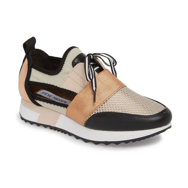 Steve Madden arctic sneaker in pink - Breezy side cutouts and mixed-media styling further the...