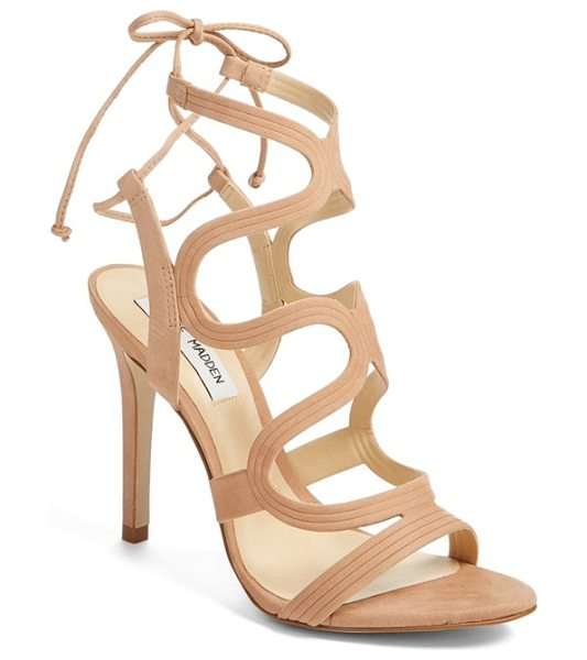 STEVE MADDEN 'ava' sandal in tan nubuck - Curvaceous straps add a breezy, feminine element to a...