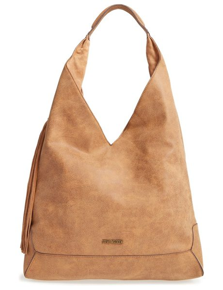Steve Madden 'bailey' faux leather tote in tan - An angular silhouette amps the modern appeal of a chic...