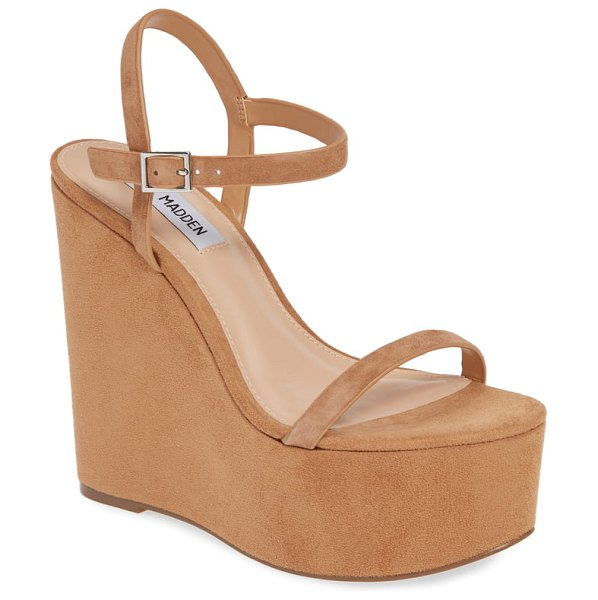 Steve Madden baxlie wedge sandal in brown