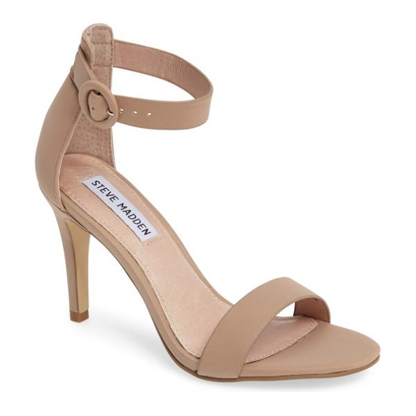 STEVE MADDEN born sandal in tan faux leather - A clean, classic sandal is set to impress with a...