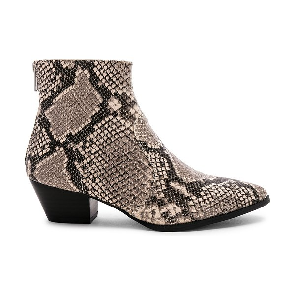 "Steve Madden Cafe Bootie in beige - ""Snakeskin embossed leather upper with man made sole...."