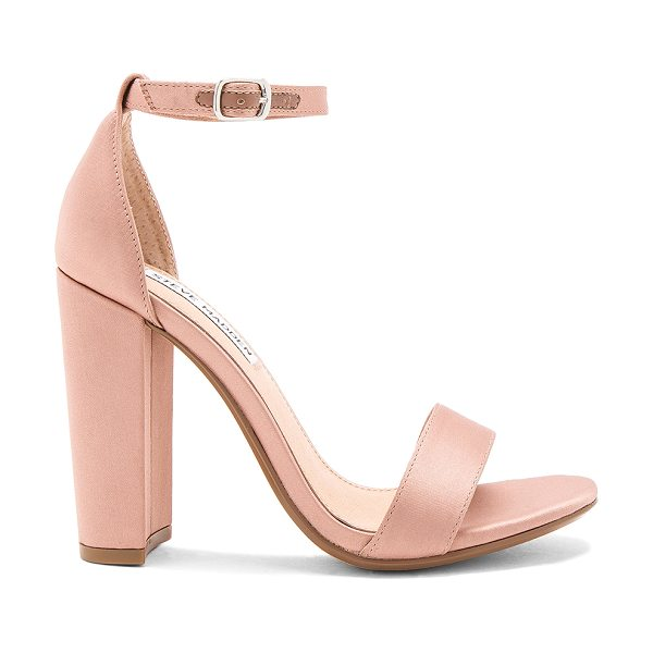 """Steve Madden Carrson Heel in blush - """"Satin textile upper with man made sole. Ankle strap..."""