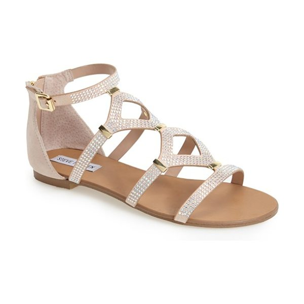 Steve Madden castel embellished sandal in natural