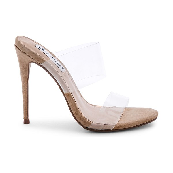 "Steve Madden Charlee Heel in beige - ""Man made upper and sole. Slip-on styling. Heel measures..."