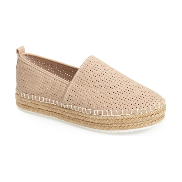 Steve Madden choppur espadrille flat in natural - A perforated finish highlights the classic casual...
