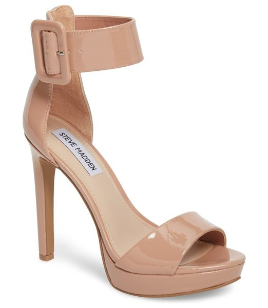 Steve Madden circuit sandal in dark blush patent leather