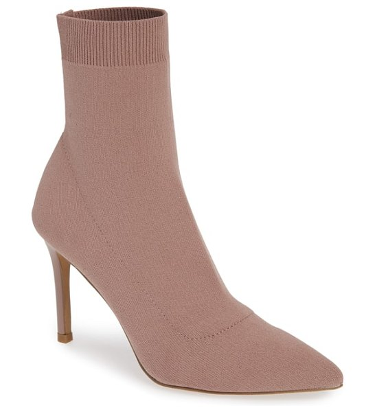 Steve Madden claire bootie in blush - A streamlined profile and slender heel elevate the...