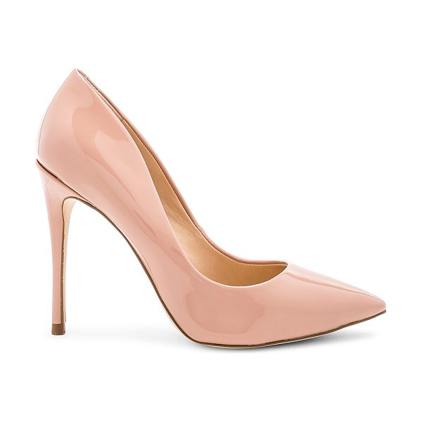 "STEVE MADDEN Daisie Heel in blush - ""Man made upper and sole. Slip-on styling. Heel measures..."