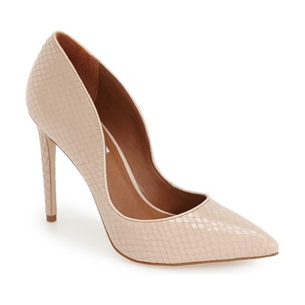 Steve Madden dipper pump in blush leather - Add impeccable polish to your look whether you're on or...