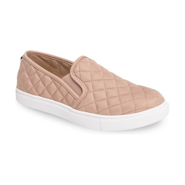 Steve Madden 'ecntrcqt' sneaker in blush fabric - A sleek, quilted finish amplifies the skater-chic style...