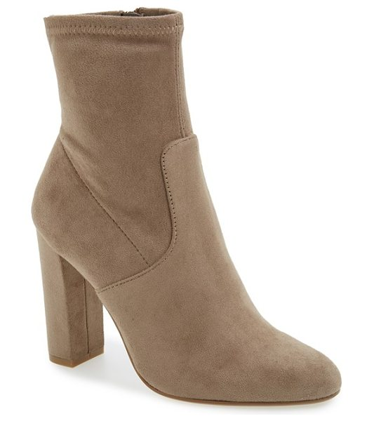Steve Madden edit bootie in taupe - A subtly slouchy shaft and a streamlined design combine...