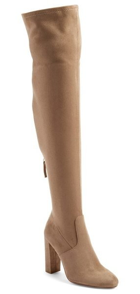 Steve Madden 'emotions' stretch over the knee boot in taupe - Sleek, minimal styling defines this over-the-knee boot...