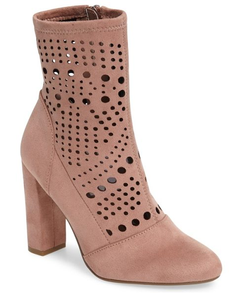 STEVE MADDEN ennie perforated bootie - Waves of circular perforations enliven the soft,...