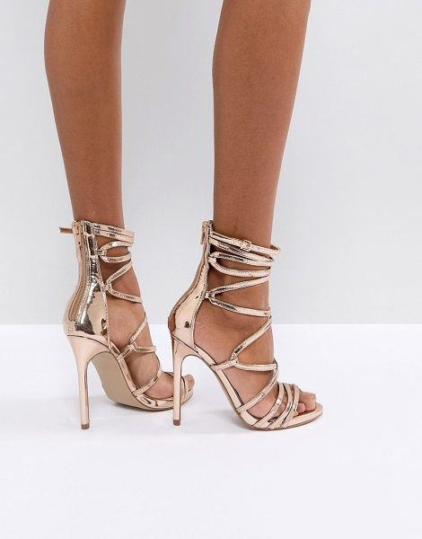 Steve Madden flaunt heeled sandals in rosegold