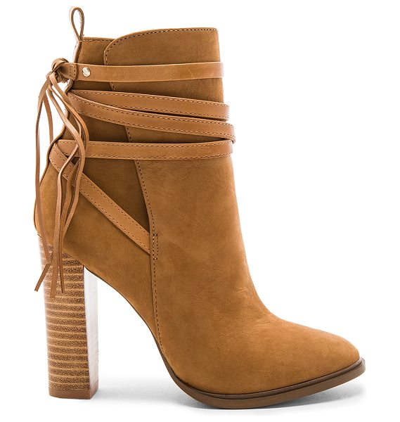 Steve Madden Gaybel Bootie in tan - Suede upper with man made sole. Side zip closure. Wrap...