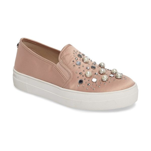 STEVE MADDEN glade embellished slip-on sneaker - A constellation of crystals and imitations pearls...