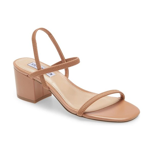 Steve Madden inessa block heel sandal in brown