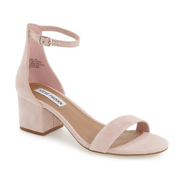 Steve Madden irenee ankle strap sandal in pink suede - Lush suede extends the vintage sophistication of a...