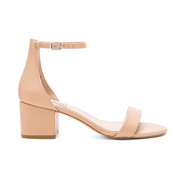 STEVE MADDEN Irenee sandal in beige - Leather upper with man made sole. Ankle strap with...