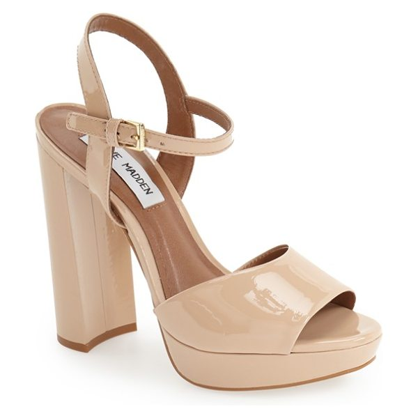 STEVE MADDEN kierra platform sandal - A tall block heel and a lofty platform intensify the...