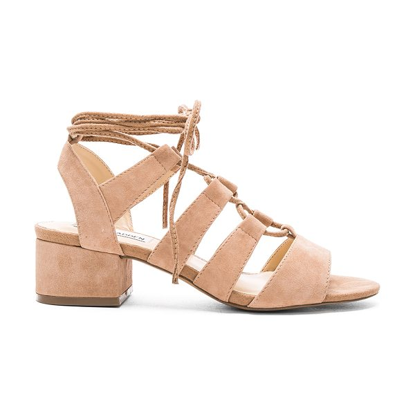 STEVE MADDEN Kittyy heel - Suede upper with man made sole. Lace-up front with wrap...