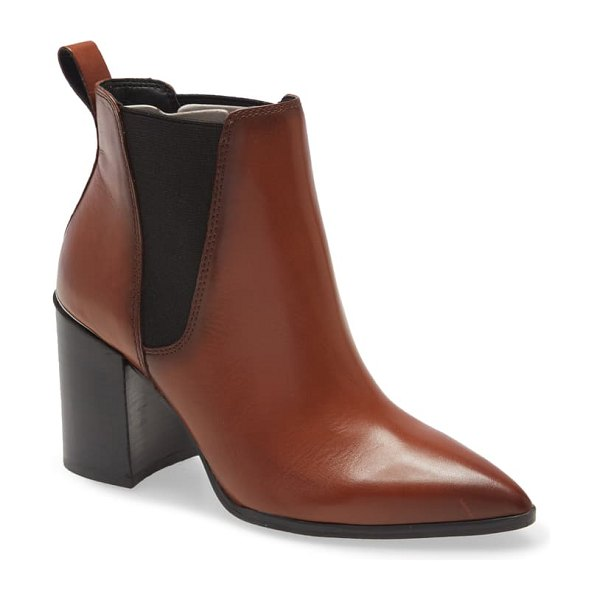 Steve Madden knoxi pointed toe bootie in brown