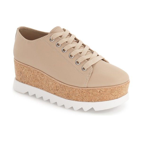 Steve Madden 'korrie' platform sneaker in nude leather - This classic sneaker takes on a dramatically new profile...