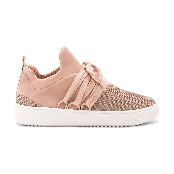 Steve Madden Lancer Sneaker in blush - Textile and man made upper with rubber sole. Lace-up...