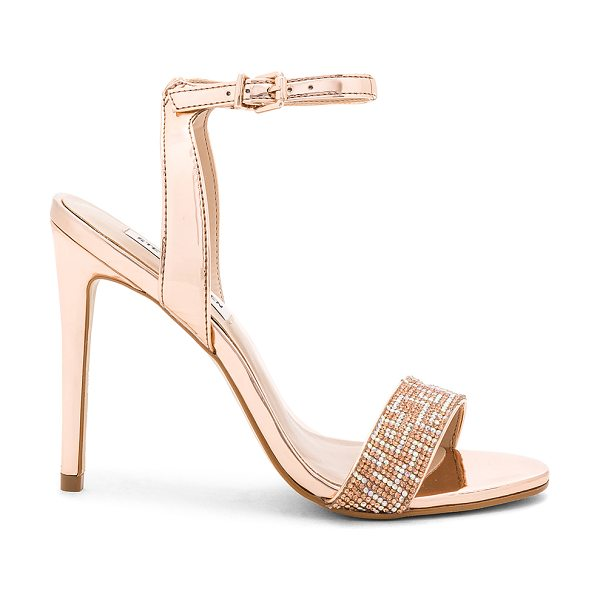 "Steve Madden Leona Heel in metallic copper - ""Metallic man made upper with man made sole. Ankle strap..."