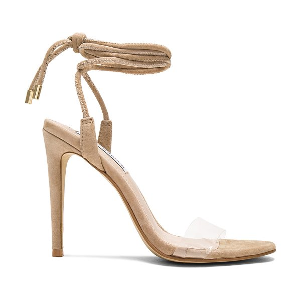 "Steve Madden Lyla Heels in beige - ""Suede upper with man made sole. Wrap ankle with tie..."