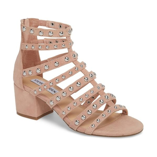 Steve Madden mania studded cage sandal in blush multi - The polished studs are tiny, but the impact is major on...